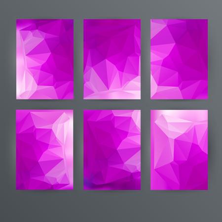 Design elements presentation template. Set vertical banners colors background, backdrop glow light effect. Vector illustration  for web banner template, business card layout, web site element