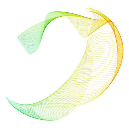 Abstract wavy stripes design Illustration