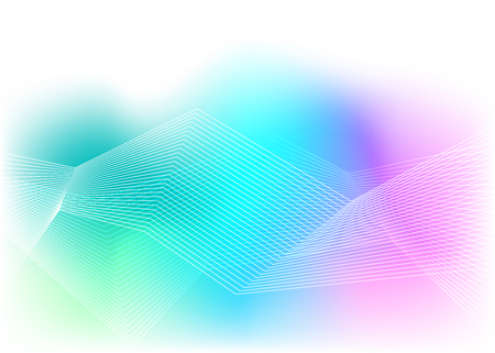 Blur rainbow gradient background of bright glow perspective with lighting wavy lines with space place for your text. Graphic image template. Abstract vector Illustration eps 10 for business brochure