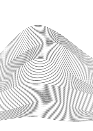 Design elements. Wave of many gray lines. Abstract wavy stripes on white background. Creative line art. Vector illustration EPS 10. Black waves with lines created using Blend Tool. Ilustracja