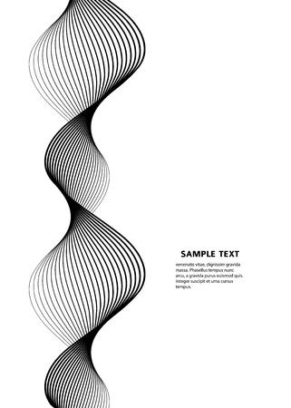 디자인 요소입니다. 많은 회색 선의 물결입니다. 절연하는 흰색 배경에 추상 수직 물결 모양의 줄무늬.