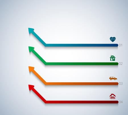 디자인 요소 화살표 스타일 배경 비즈니스 프레 젠 테이 션 서식 파일입니다. 벡터 그림 차트 프로세스 서비스에 대 한 EPS 10 귀하의 회사, 업계 infographic, 배너, 웹 페이지 레이아웃, 보고서 회사