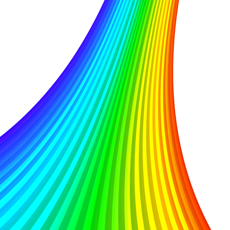 Design element rainbow gradient stripes transition of different thickness. lines for background banner. Abstract Vector illustration 10 for easy editing, template brochure, layout leaflet, newsletters Ilustrace