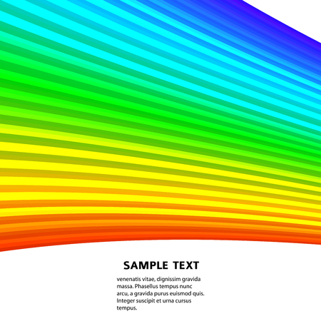 Design element rainbow gradient stripes transition of different thickness. lines for background banner. Abstract Vector illustration 10 for easy editing, template brochure, layout leaflet, newsletters Illustration