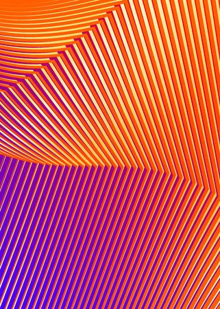 Orange background advertising brochure design elements. Glowing light stripe oblique graphic form for elegant flyer vector illustration for booklet layout, freshness theme leaflet, newsletters.