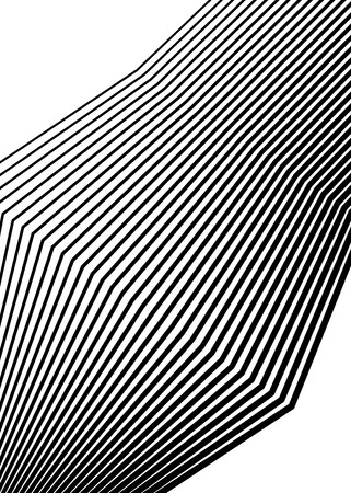 White black color, linear background design elements. Polygonal lines protective layer for banknotes, certificates template vector lines of different thicknesses from thin to thick.