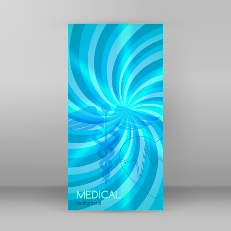Blue medical backdrop abstract - concept health care or medicine technology.