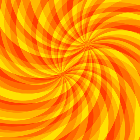 Sunny backdrop with orange yellow rays summer sunlight burst, Hot swirl with space for your message.