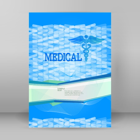 Blue Abstract backdrop - concept alternative medicine or vitamin diet.