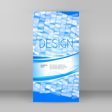 Blur light glow gradient background with mosaic ellipce. Graphic image template. Abstract vector Illustration eps 10 for your brochure to design the packaging of products for pharmaceptic industry