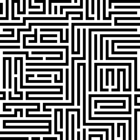 Abstract vector background design with maze mosaic texture. Illustration