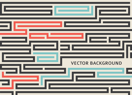 Maze texture vintage and place for your text isolated Abstract illustration.