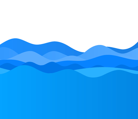 Freshness natural theme, a Fresh water background of blue. Elements design. Abstract wavy for overlaying background of page under mesh edge of title front label spa products. Vector illustration.