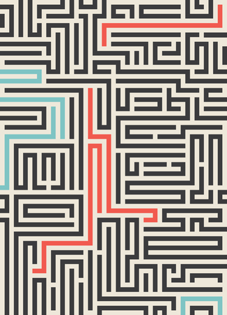 Maze texture vintage and place for your text isolated. Illustration