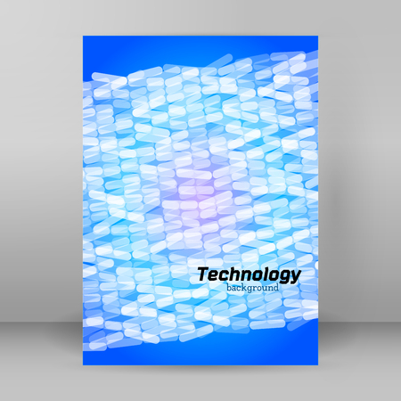 Blur light glow gradient background with mosaic ellipse. Graphic image template. Abstract vector Illustration for your brochure to design the packaging of products for technology industry.