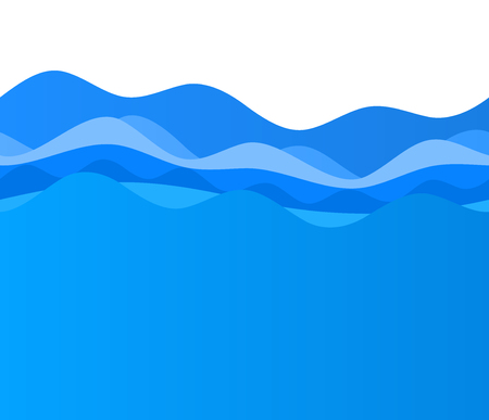 Freshness natural theme, a Fresh Water background of blue. Elements design. Abstract wavy for overlaying background of page under meshedge of title front label spa products. Vector illustration