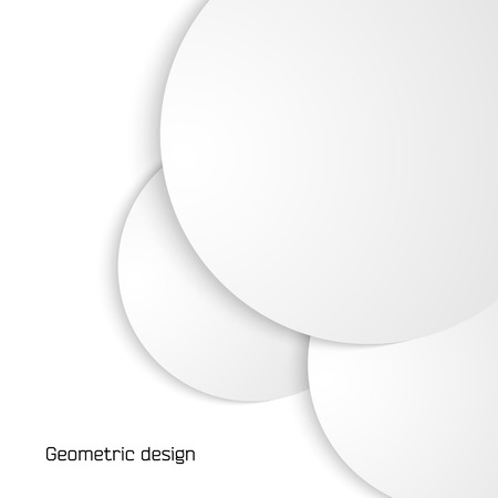 Modern Design infographic style template on white background with 3d effect circle. Vector illustration for new product newsletters, web banners, pages presentation, booklet layout and leaflet.