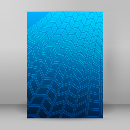 Modern geometrical blue background of bright glowing perspective with squares, rectangle form. Graphic image template. Abstract vector illustration for backdrop business card, banners techno Illustration