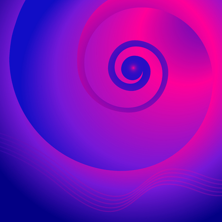 Abstract spiral background of bright glow perspective with lighting purple twist lines.
