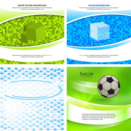 Design elements business presentation template. Vector illustration EPS 10 set background pages, backdrop glow light effect. Business templates for multipurpose web site layout, banners, flyer
