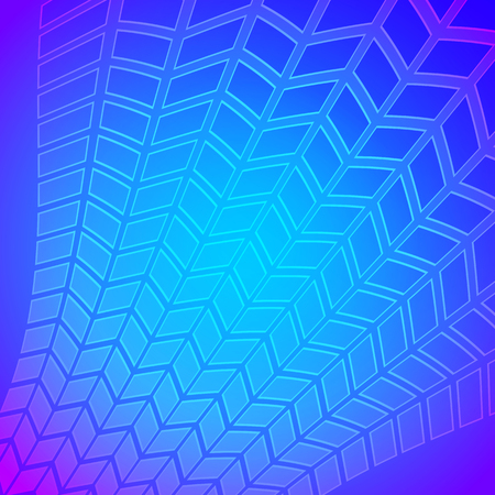 Modern geometrical blue background of bright glowing perspective with parallelogram forms. Abstract Graphic image vector illustration template. EPS 10 for backdrop business card, banners techno