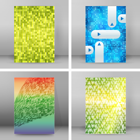Modern style sea Design website banners background page. Vector Illustration EPS 10. Geometric concept triangle mosaic cool gamma colors for grunge backdrop presentation