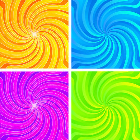 Set Abstract spiral background of bright glow perspective with lighting blue yellow twist lines. Can be used for business brochure, flyer party, design banners, cover book, label