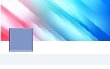 Plantilla de elementos de diseño para la red social de la página de encabezado con lugar nickphoto personal. Ilustración vectorial banners web horizontales fondo abstracto forma borrosa. EPS 10 para encabezar el sitio web del blog