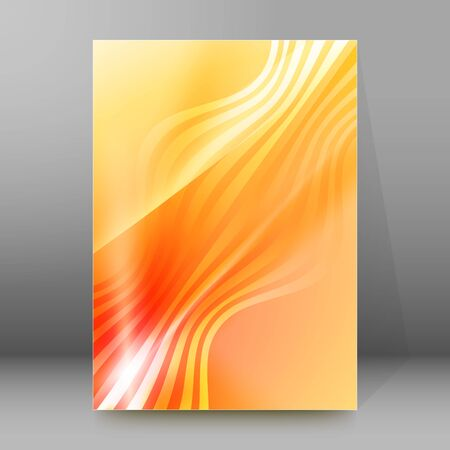 Summer background with orange yellow rays summer sun light burst. Hot announcement with space for message.