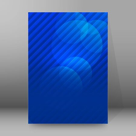 Advertising flyer party design elements. Blue background with elegant graphic blur bright light circles. Fun illustration for template brochure, layout leaflet, cafe menu card Imagens - 133530542