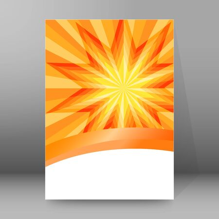 Summer background with orange yellow rays summer sun light burst. Hot announcement with space for message. Stock fotó - 133530549