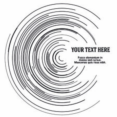 Design elements. Curved many streak. Abstract Circular  element on white background isolated. Creative band art. Imagens - 133530668
