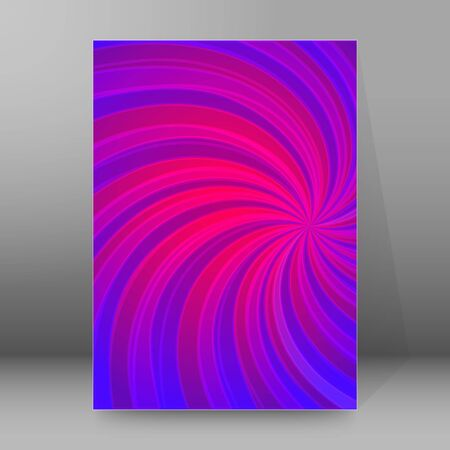Abstract spiral background of bright glow perspective with lighting blue, purple, yellow, green twist lines. Can be used for business brochure, flyer party, design banners, cover book, label