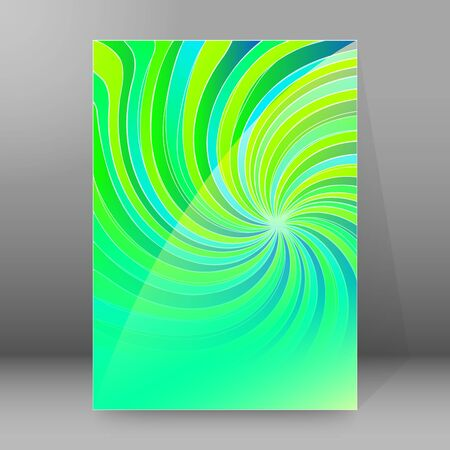 Abstract spiral background of bright glow perspective with lighting blue, purple, yellow, green twist lines. Can be used for business brochure, flyer party, design banners, cover book, label Imagens - 133530677