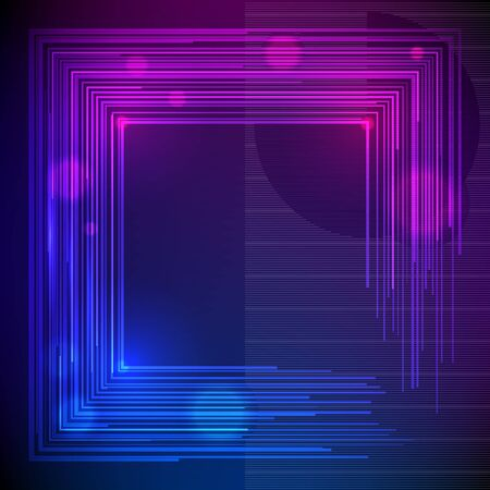 Blur dark gradient background of bright glow perspective with lighting circles with space place for your text.
