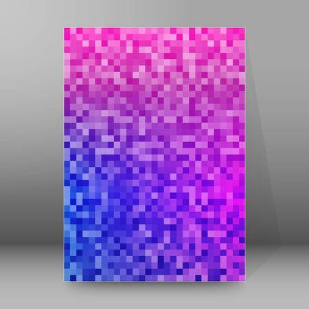 Advertising flyer party design elements. Purple background with elegant graphic blur bright light circles. Fun illustration for template brochure, layout leaflet, cafe menu card Ilustração