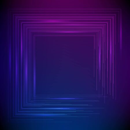 Blur dark gradient background of bright glow perspective with lighting circles with space place for your text. Imagens - 134927899