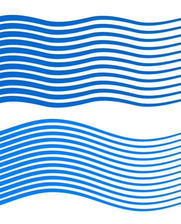 Elements design. Abstract wavy stripes for overlaying background of page under meshedge brochure, poster. Creative art for lines of different thicknesses from thin to thick. Imagens - 134927909