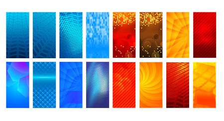 Set Abstract background glow light. Imagens - 134927913