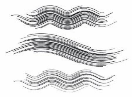 Définir le modèle de style d'élément de conception moderne pour le fond grunge. Pinceau pour maille effet rayure rayure ondulée.