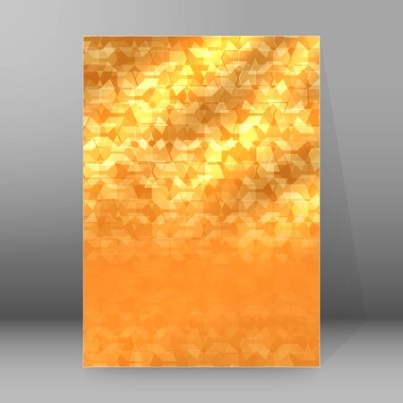 Modern geometrical background of bright glowing perspective with squares, rectangle form. Graphic blurry template.