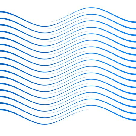 Elements design. Abstract wavy stripes for overlaying background of page under meshedge brochure, poster. Creative art for lines of different thicknesses from thin to thick. Stock Illustratie