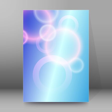 Modern Design style template rings on blur background with space place for your text. Blurry gradient with lines circle. Imagens - 134928658