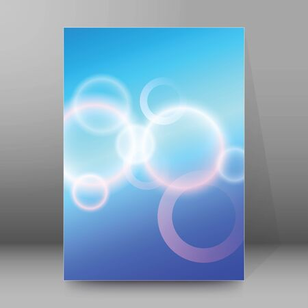 Modern Design style template rings on blur background with space place for your text. Blurry gradient with lines circle.