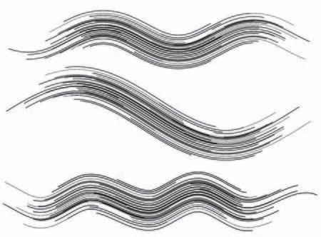 Set Modern Design element style template for grunge background. Brush for mesh scratch effect wavy stripe.