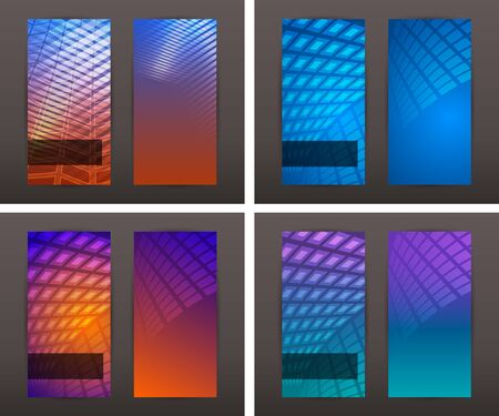 Set Abstract background Modern style sea Design website page banners. Ilustrace