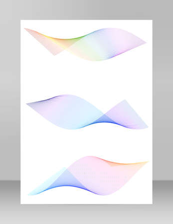 Design elements. Wave of many black lines circle twist. Abstract wavy stripes on white background isolated. Vector illustration Vetores