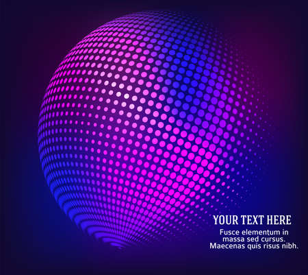 Abstract background advertising brochure design elements. Futuristic style glow neon disco club, night party for elegant flyer. Vector illustration EPS 10 for layout page newsletters, vertical banner