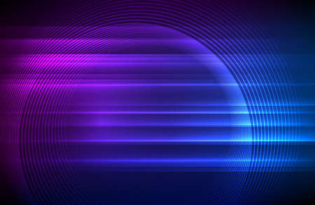 Wave many lines. Abstract wavy stripes on purple blue background. Creative line art colorful gradient. Vector illustration . Design elements created using the Blend Tool for booklet layout, well