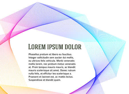 Soft rainbow color. Linear background. Design elements. Poligonal lines. Guilloche. The protective layer for banknotes, diplomas and certificates template. Vector lines created using Blend Tool Stock Illustratie